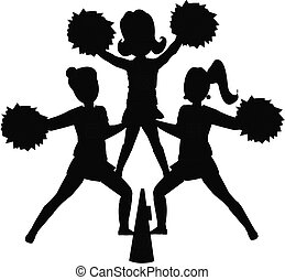 Cheerleader Silhouette.