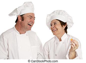 chefs, spaß haben
