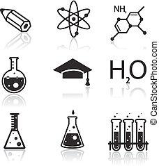 Chemie-Icons für Lern- und Webanwendungen.