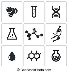 Chemie-Ikonensammlung.