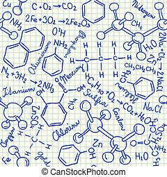 Chemische Doodles nahtlos.