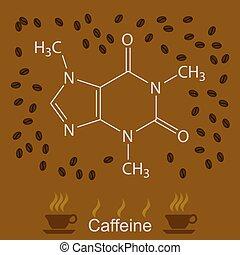 Chemische Koffeinformation.