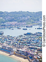 Cheung Chau Island View aus Hilltop, Hong Kong.