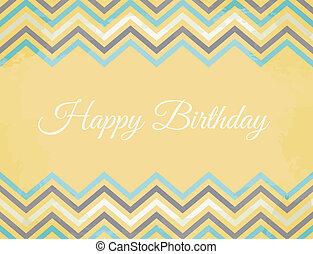 Chevron Muster Geburtstagskarte