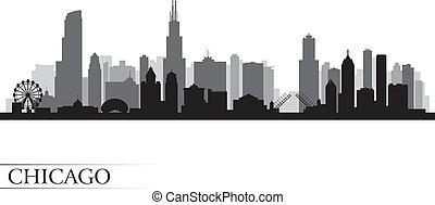 Chicago City Skyline detaillierte Silhouette