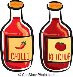 Chili und Tomatensoße