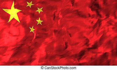china., fahne