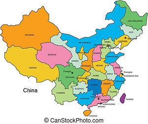 China mit Verwaltungsbezirken