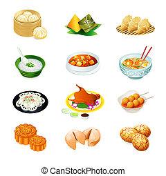 Chinesische Essens-Ikonen