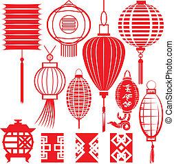 Chinesische Laternensammlung