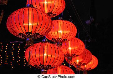 Chinesische rote Laternen