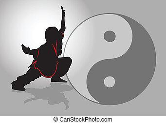 Chinesische Tai-Chi.