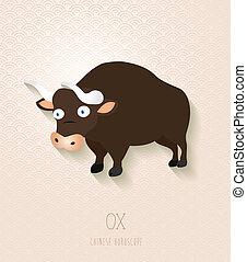 Chinesische Zodiac Set Jahr der Ochsen