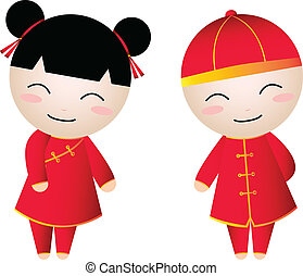 Chinesischer Mädchenjunge