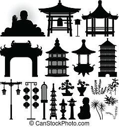 Chinesisches Asian-Tempel-Relikt