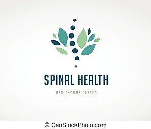 Chiropraktik, Massage, Rückenschmerzen und Osteopathie Ikonen.