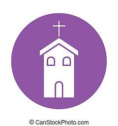 christ, katholik, block, vektor, stil, kirche, design, ikone