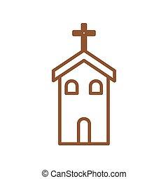 christ, linie, katholik, vektor, stil, kirche, design, ikone