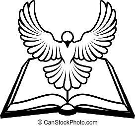 Christian-Bibel-Dove-Konzept