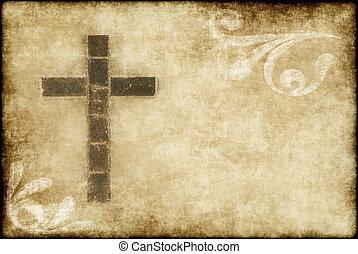 Christian Cross auf Pergament