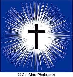 Christian Cross. Glauben und Religion. Vector Illustration