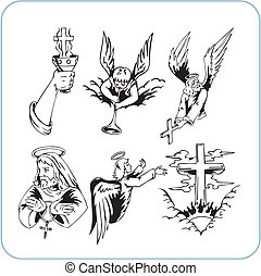 christliche Religion - Vektor illustriert.
