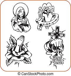 christliche Religion - vektorische Illustration.