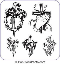 Christliche Symbole - Vektorgrafik.
