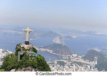 Christlicher Erlöser und Sugarloaf in Rio de Janeiro