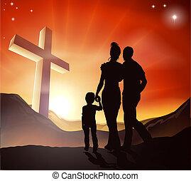 christliches Familienkonzept