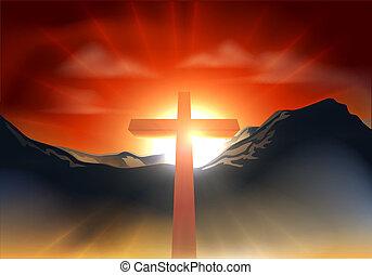 christliches Ostkreuzkonzept