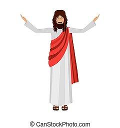 christus, figur, auf, jesus, menschliche hände