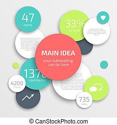 Circle Business Infographics Design Vorlage.