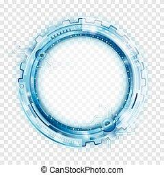 Circular abstrakte Technologie Backgr.