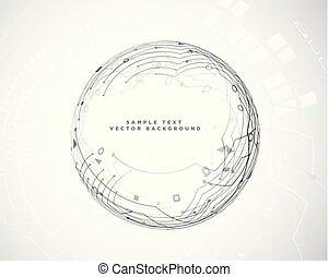 Circular abstrakte Technologie Schaltplan.