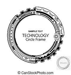 Circular abstrakter Technologierahmen.
