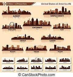 City Skyline bereit. 10 Stadtsilhouetten der USA #6