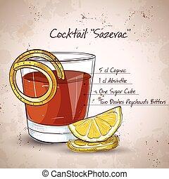 Classic sazerac Cocktail.
