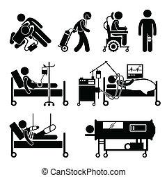 cliparts, equipments, lebensunterstützung