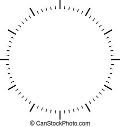 Clock wählt schwarze Zeichen