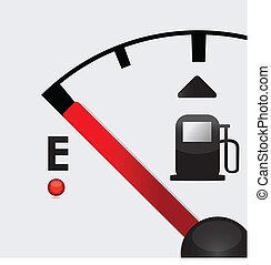 closeup, gas, leerer , abbildung, tank