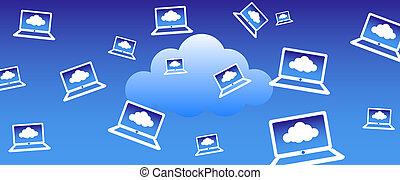 Cloud Computing Hintergrund.