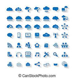 Cloud Computing Network Web Icon.