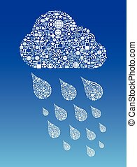 Cloud Computing Social Media Hintergrund