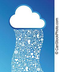 Cloud Computing Social Media Network Hintergrund