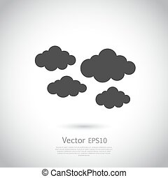 Cloud Icon, Sprachblase, Vektorgrafik.