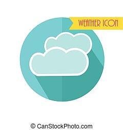 Cloud Icon. Wettervorhersage. Vector Illustration.