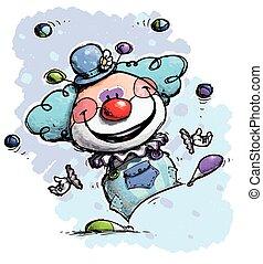 Clown Jonglieren - Jungenfarben