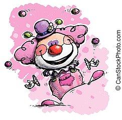 Clown Jonglieren - Mädchenfarben