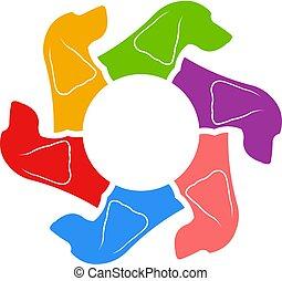 Cocker-Spaniel-Kreis der Hunde. Vector Illustration